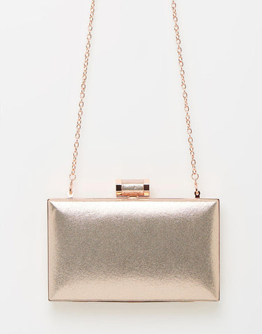Izoa Gunmetal Beatrice Clutch