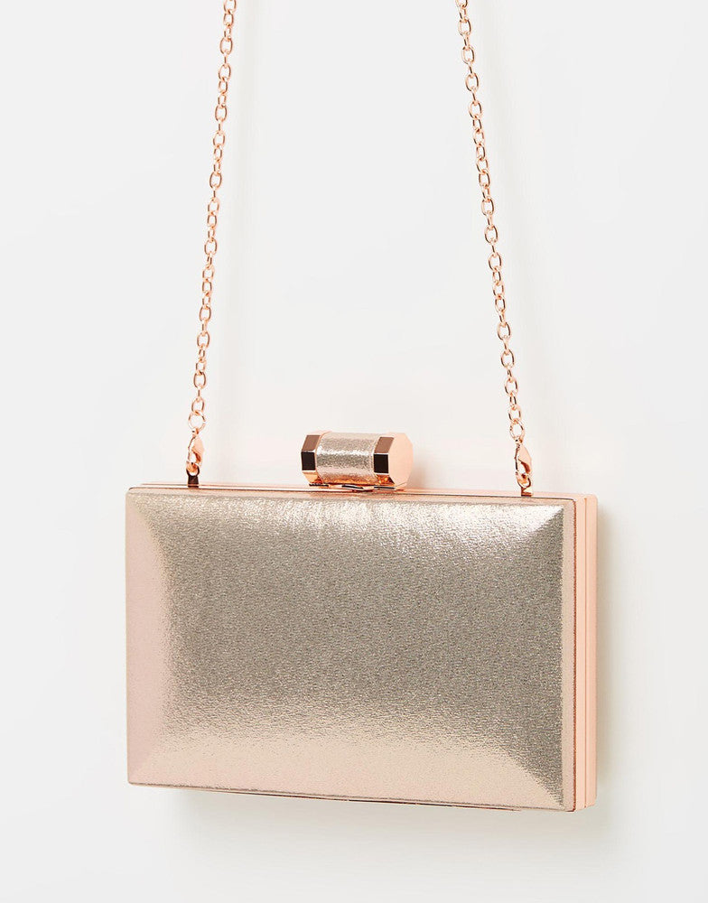 Izoa Violette Clutch Rose Gold