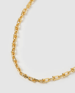 Izoa Vienna Link Chain Necklace Gold
