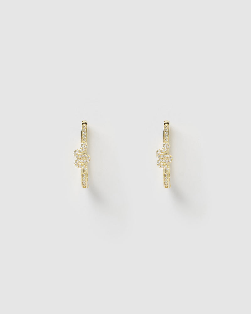 Izoa Viper Hoop Earrings Gold