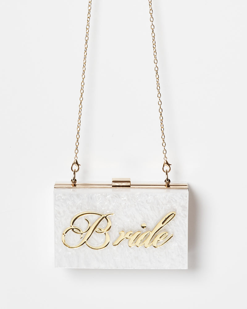 Izoa Bride Clutch Pearl Gold