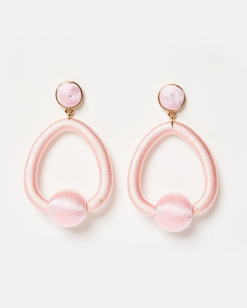 Izoa Moda Earrings Pink