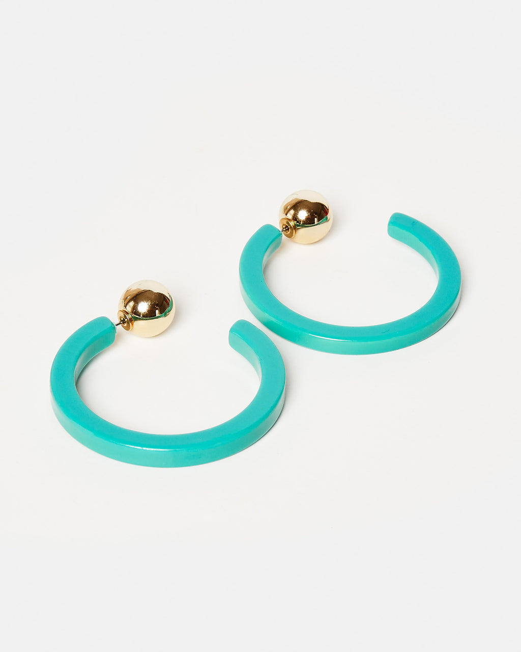 Izoa Tango Hoop Earrings Green