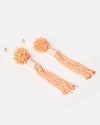Izoa Bonito Tassel Earrings Coral