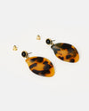Izoa Tortuga Earrings Tortoise Shell