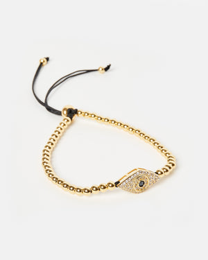 Izoa All Seeing Eye Bracelet Gold