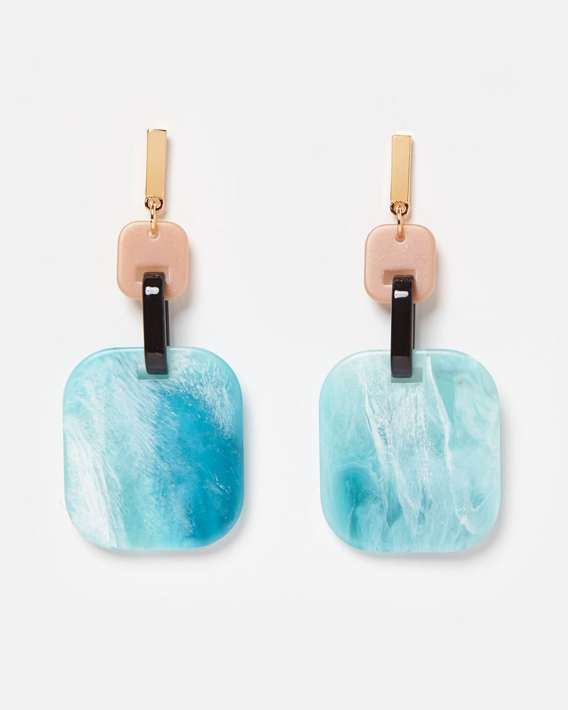 Izoa Rafaella Earrings Aqua Multi