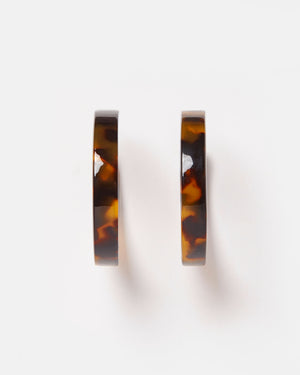 Izoa Tango Hoop Earrings Tortoise Shell