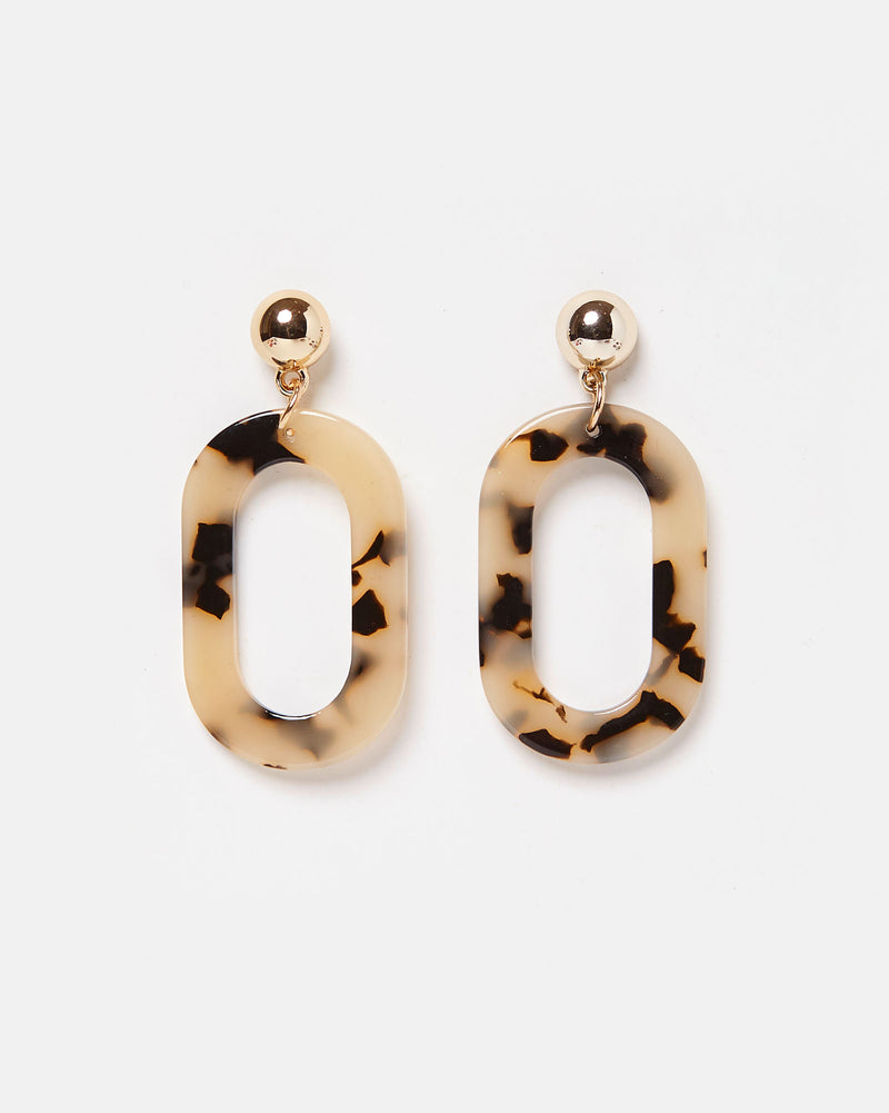 Izoa Camila Earrings White Dot