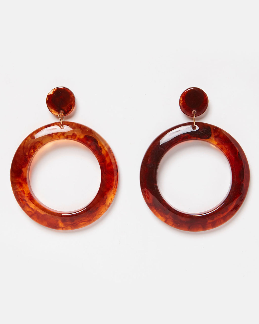 Izoa Sofia Earrings Amber Resin