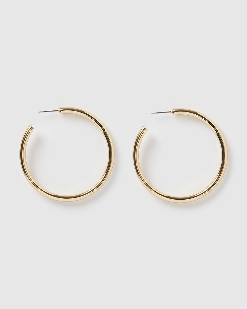 Izoa Voluminous Hoop Earrings Gold