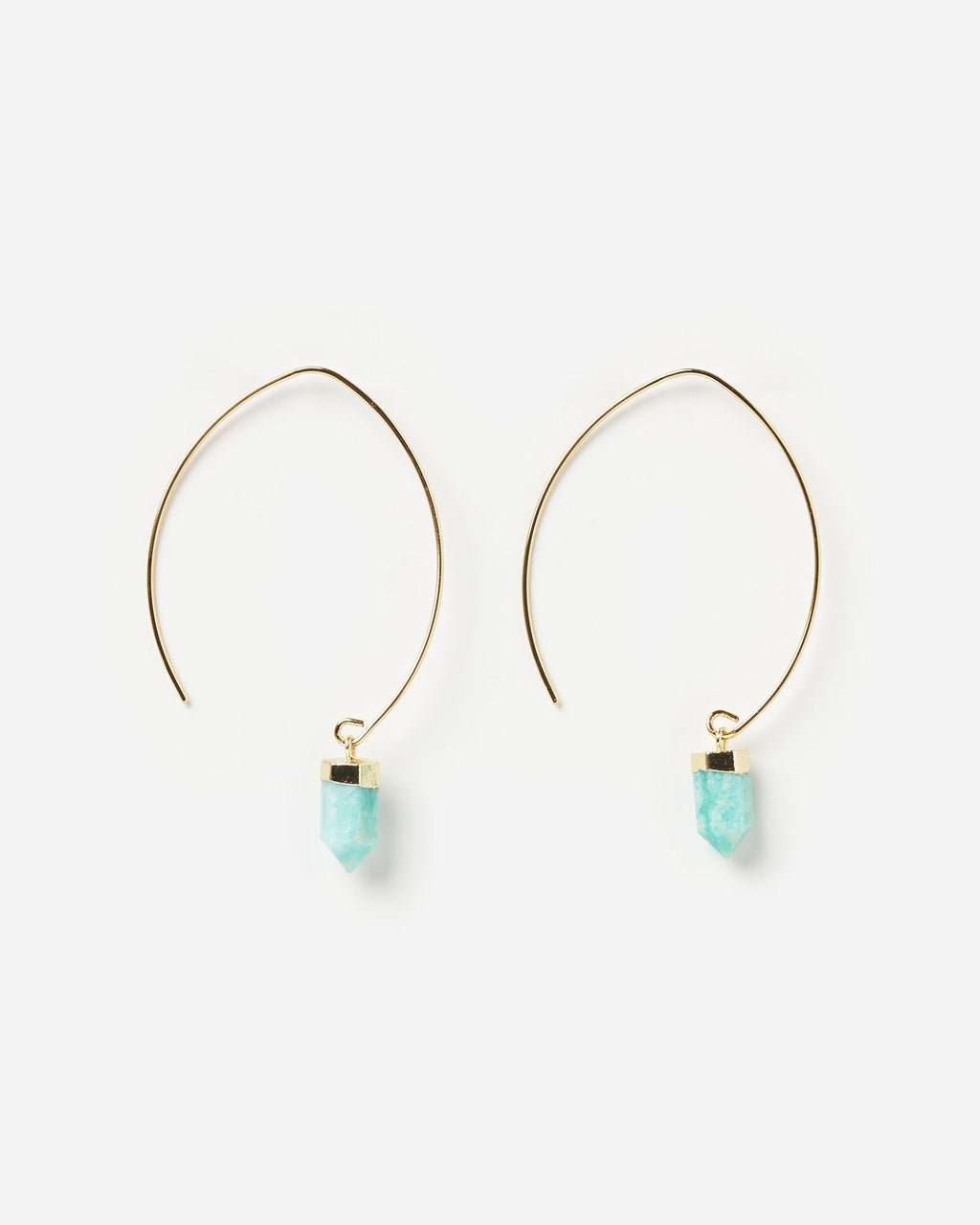 Miz Casa & Co Wanderer Earrings Gold Turquoise