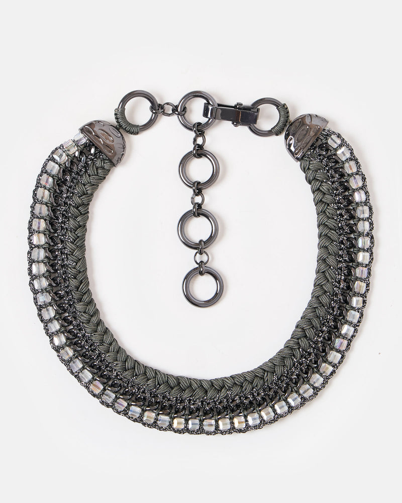 Izoa Warrior Princess Necklace Gunmetal