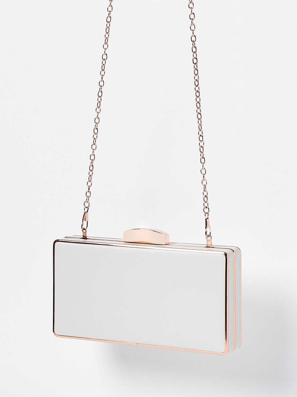 Izoa Winx Clutch White Rose Gold