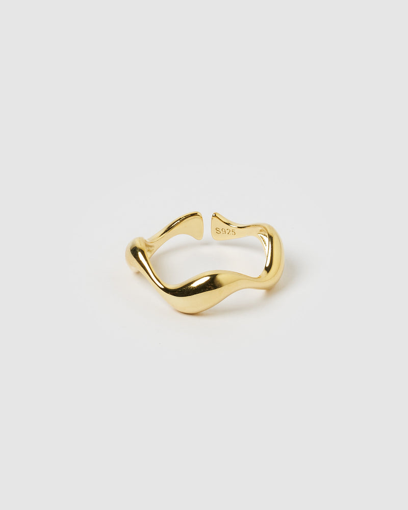 Izoa Wave Ring Gold