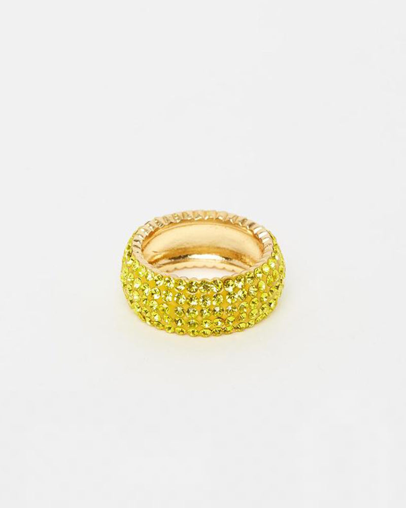 Izoa Crystal Ring Lime