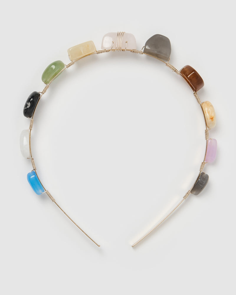 Izoa Wishful Headband Gold Multi