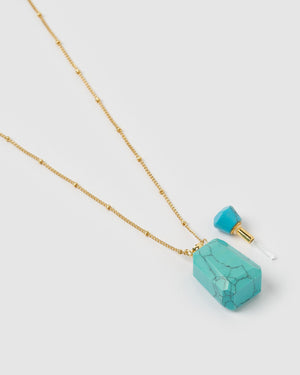 Miz Casa & Co Wonderstruck Necklace Turquoise Gold