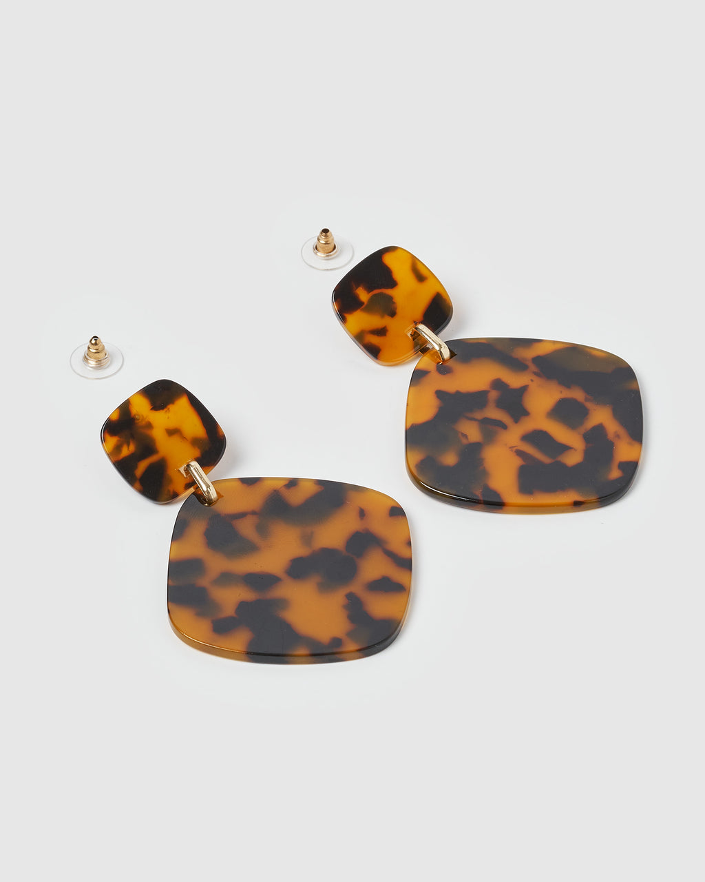 Izoa World Wide Earrings Brown Speckle
