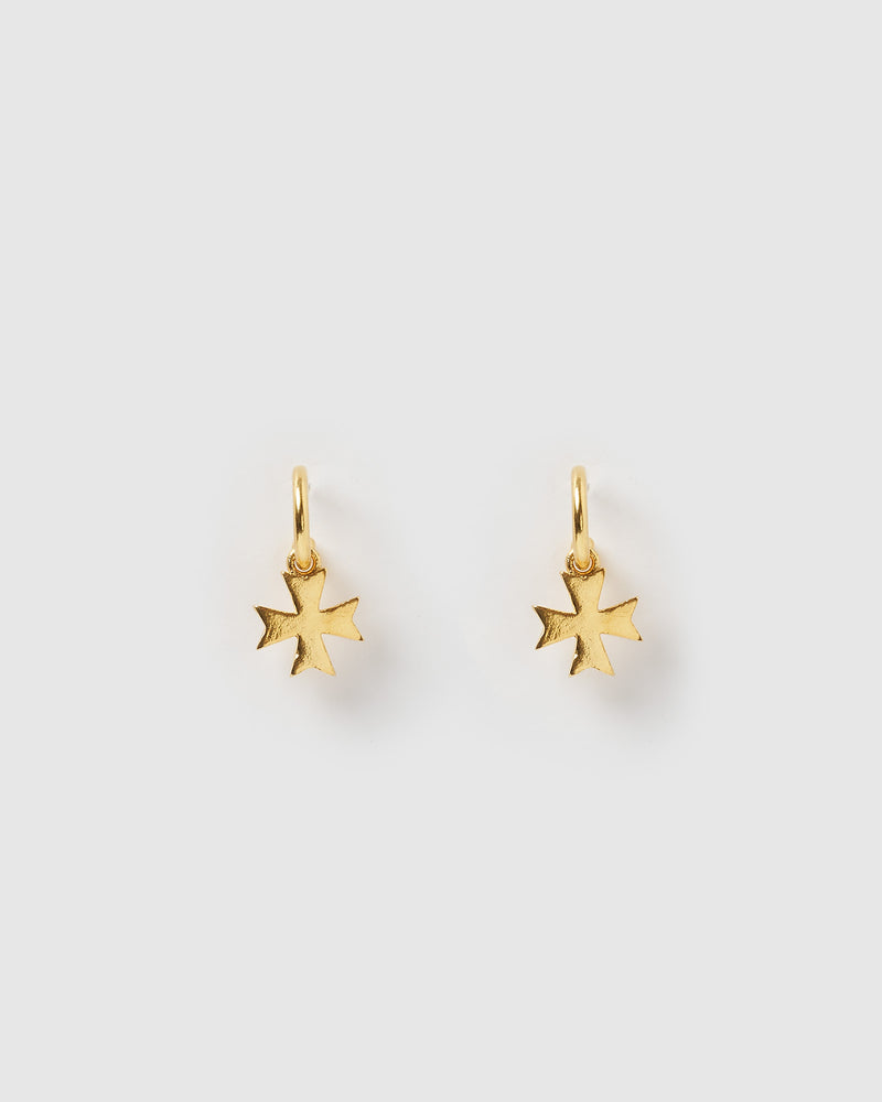 Izoa Worry Mini Hoop Earrings Gold