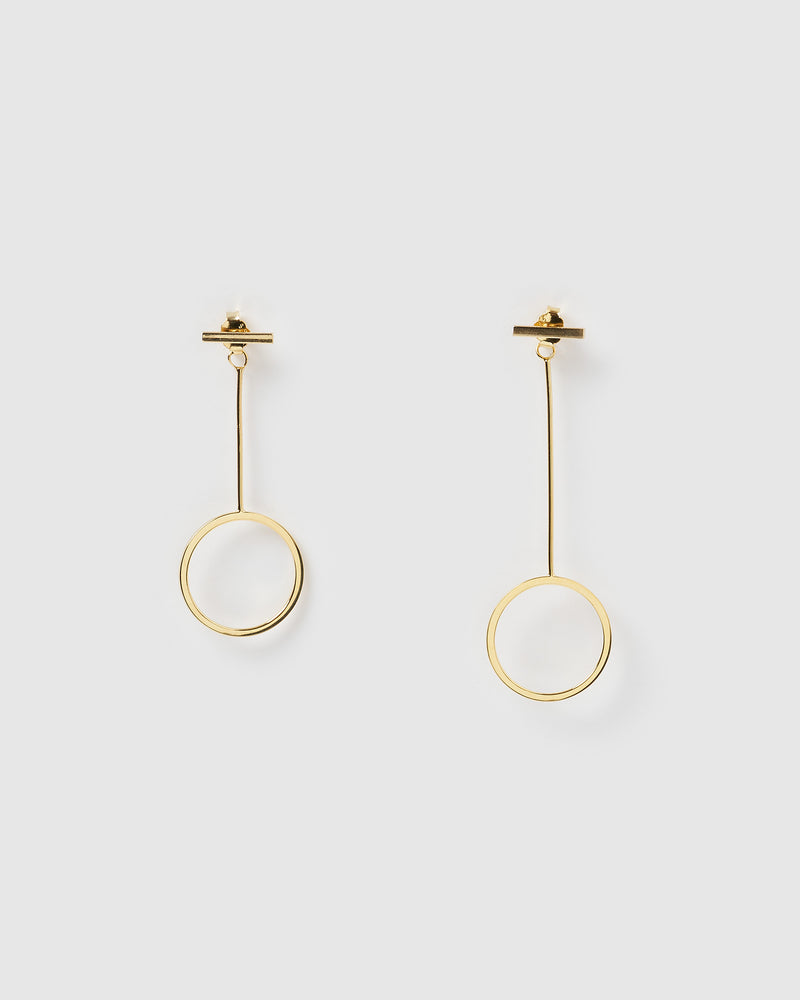 Izoa Balance Earrings Gold