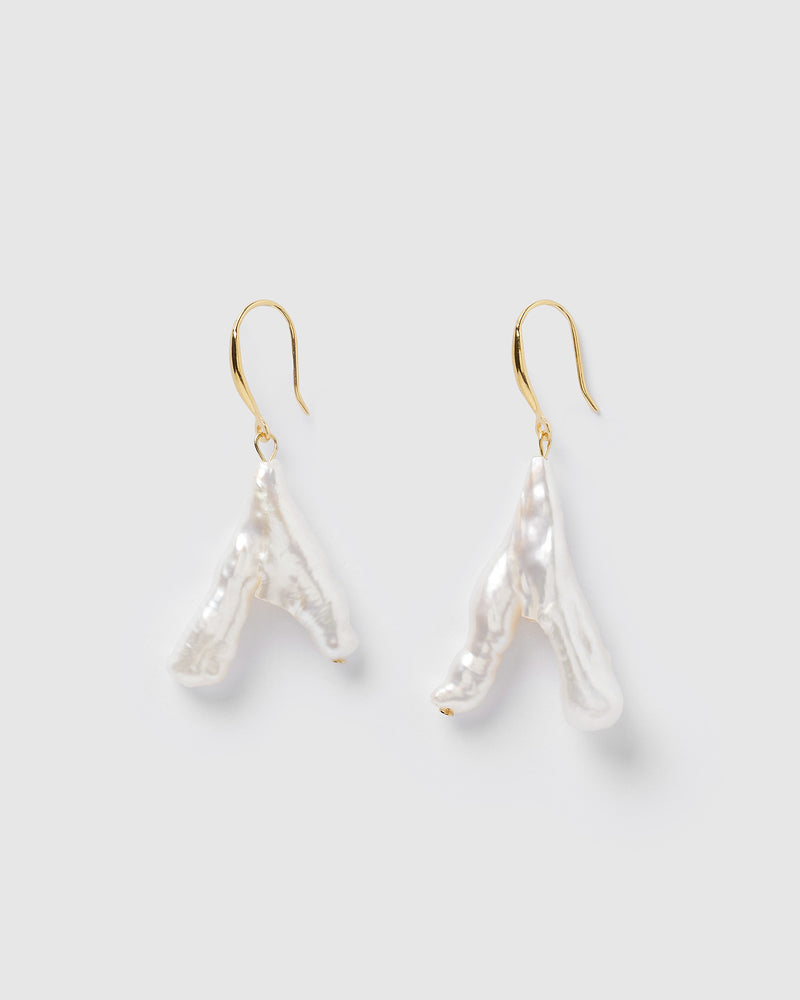 Izoa Cindy Earrings Gold Pearl