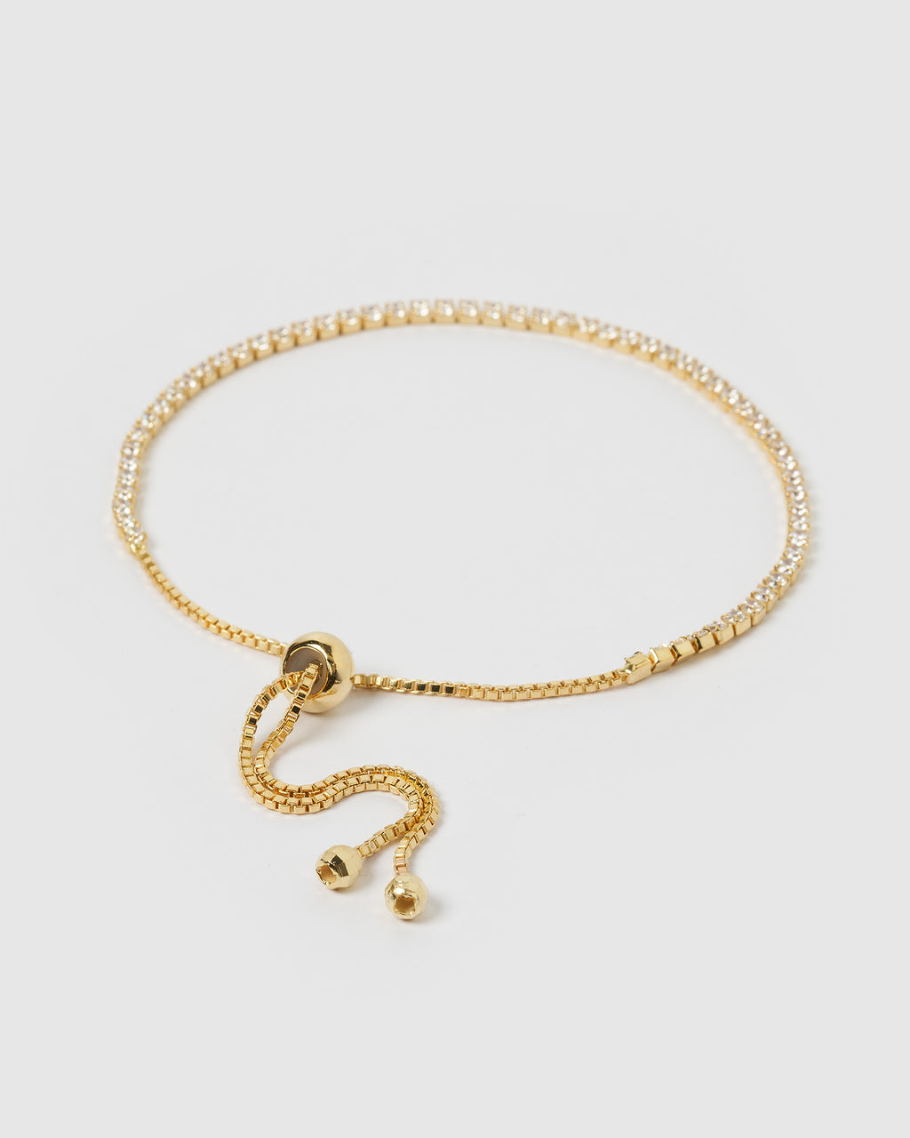 Izoa Gold Crystal Tennis Bracelet