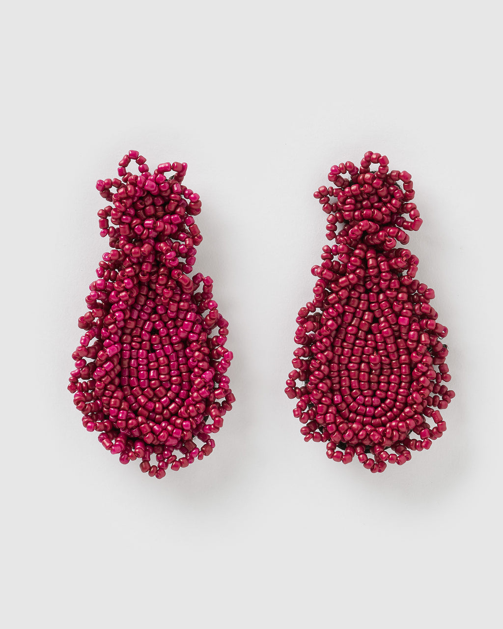 Izoa Hallie Earrings Burgundy