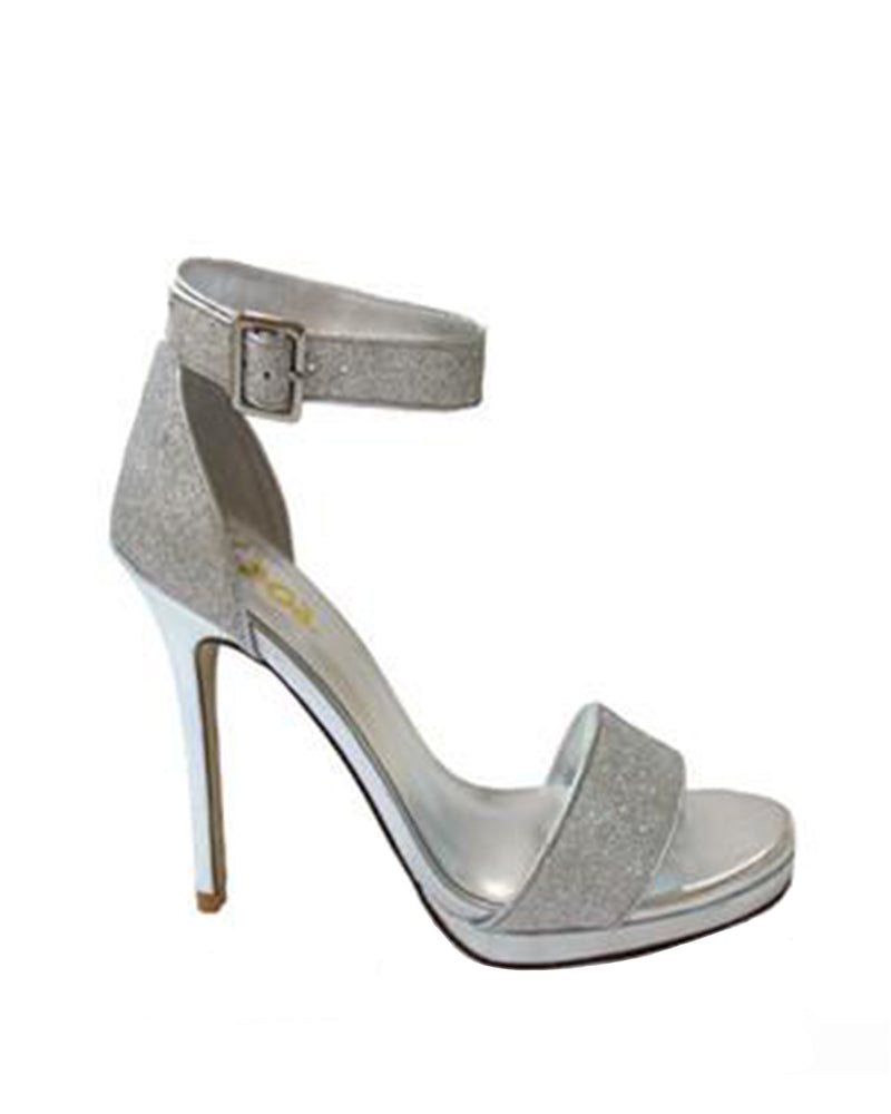 Izoa Canne Heels Silver (SIZE 41 ONLY)
