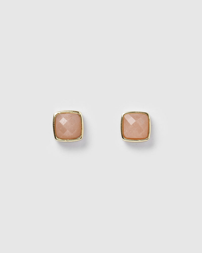 Miz Casa & Co Horizon Stud Earrings Coral