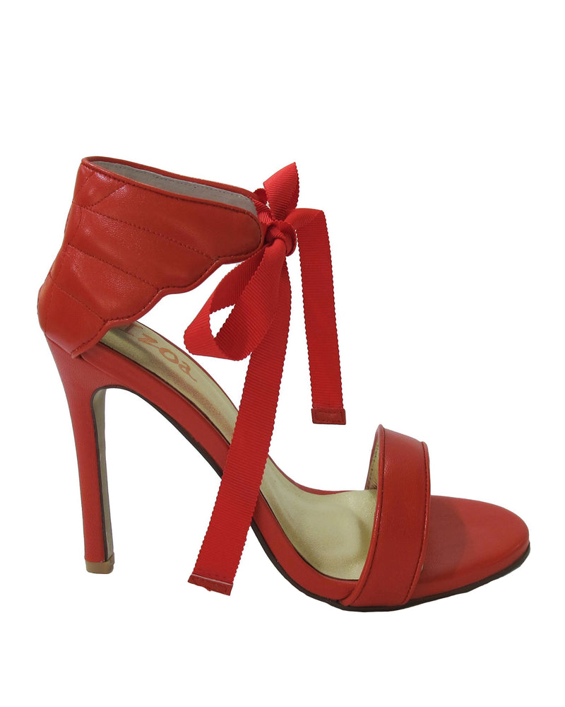 Izoa Mykonos Heels Red Wing (SIZE 37 ONLY)