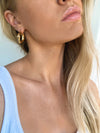 Izoa Frankie Molten Hoop Earrings Gold