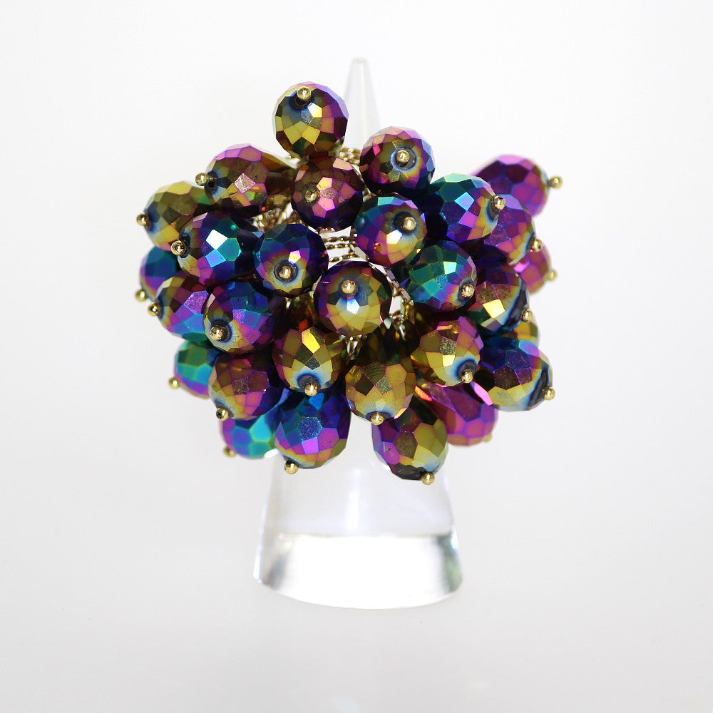Izoa Rainbow Cluster Statement Ring