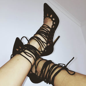 The Breanna Heels Black Suede by SBB The Label