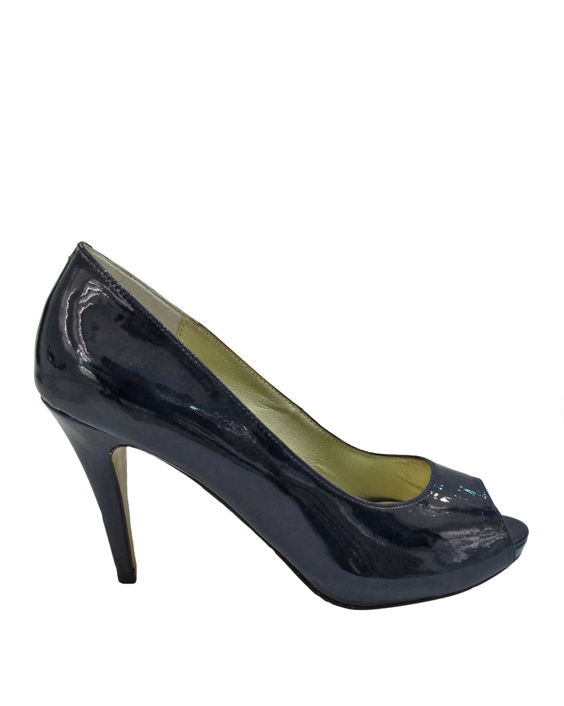 Izoa Lola Peeptoe Pumps Navy (SIZE 35 ONLY)