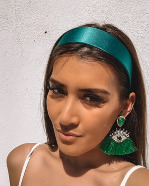 Izoa Kira Headband Emerald Green