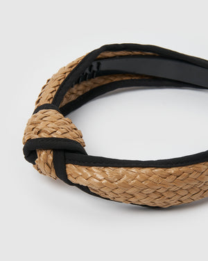 Izoa Luca Headband Natural Black