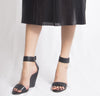 Izoa Girl To Madrid Wedges Black (SIZE 36 ONLY)