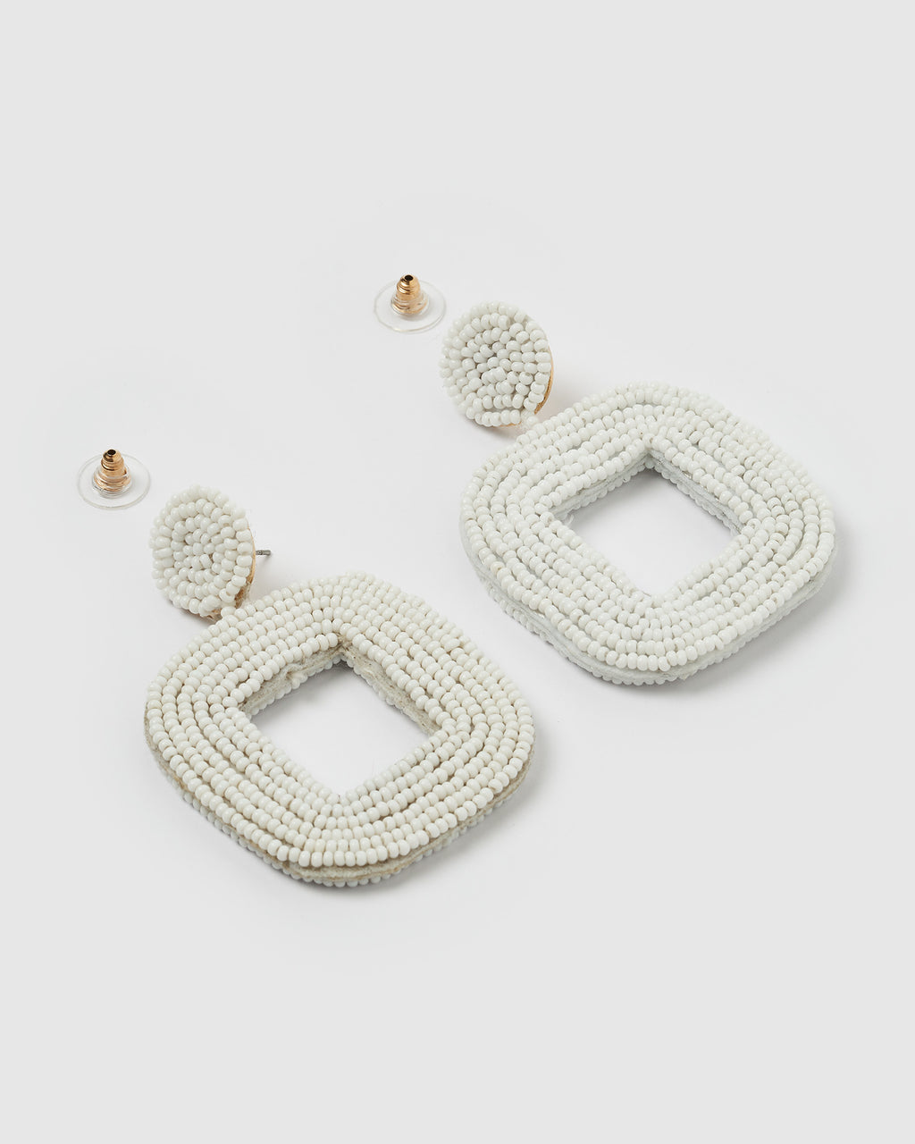 Izoa Mae Earrings White