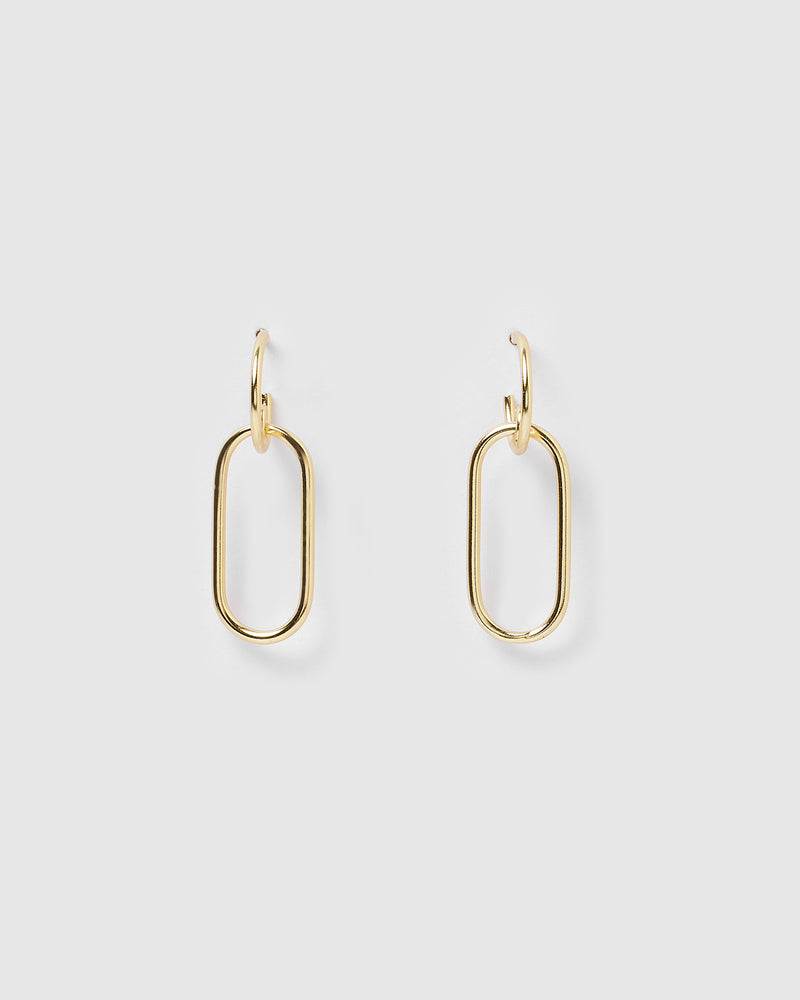 Izoa Mini Link Earrings Gold