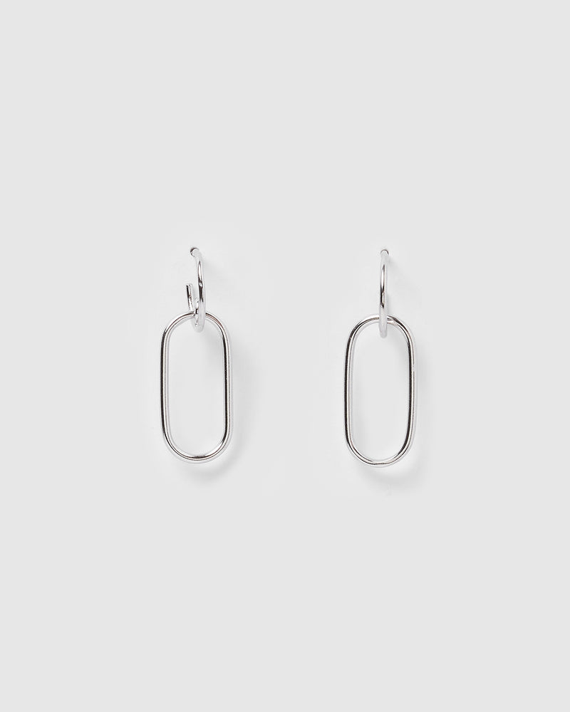 Izoa Mini Link Earrings Silver