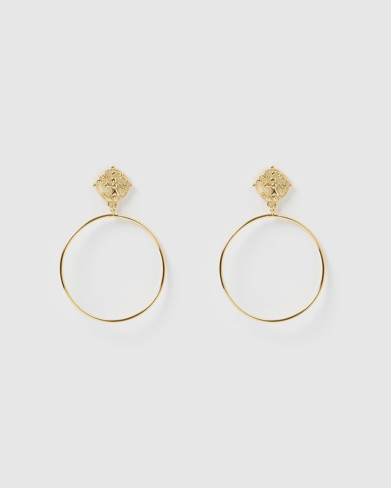 Izoa Moments Earrings Gold