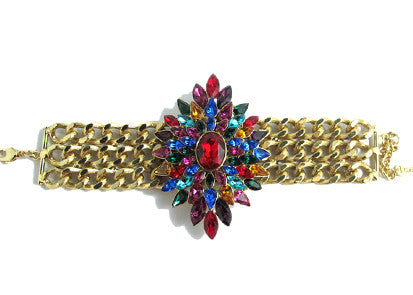 Izoa Nikoleta Bracelet Gold and Red