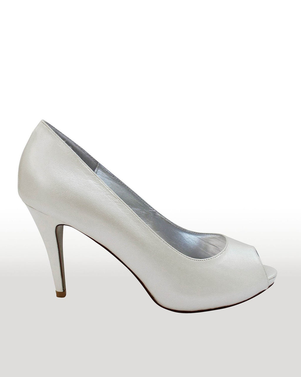 Izoa Lola Peeptoe Pumps Ivory (SIZES 39 & 41 ONLY)