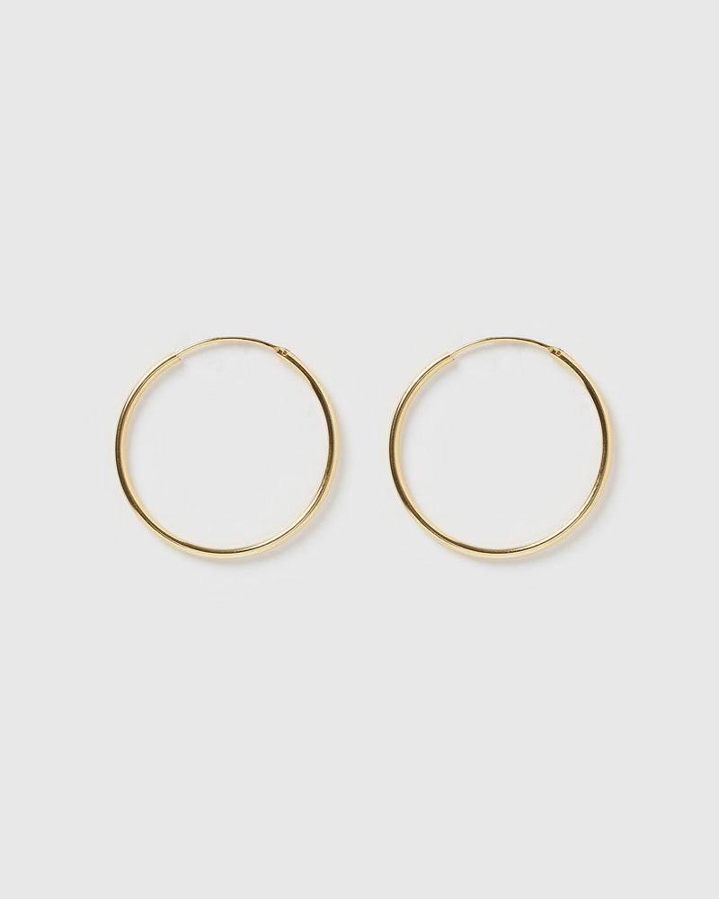 Izoa Residence Hoop Earrings Gold