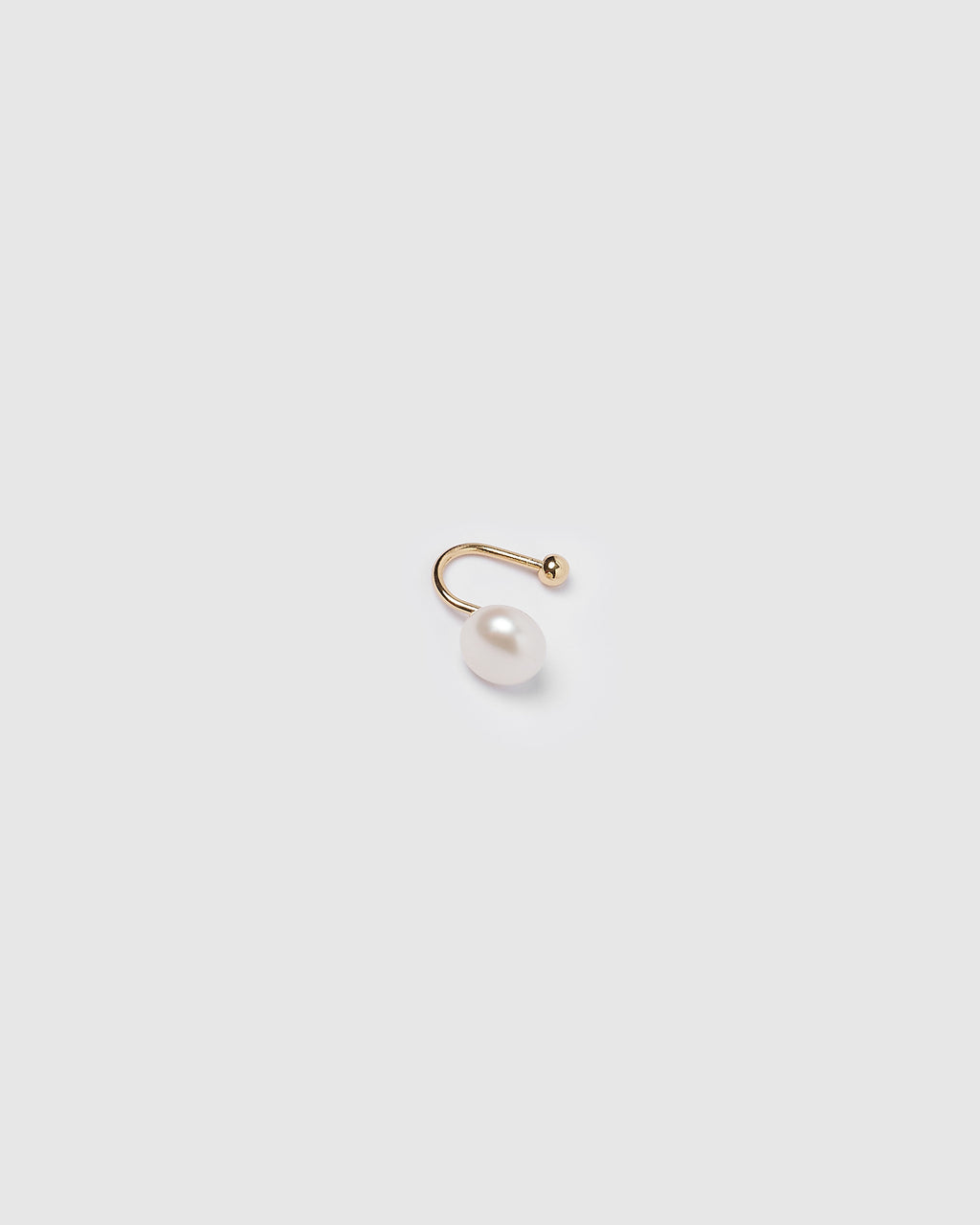 Izoa Stacey Cuff Earring Gold Pearl