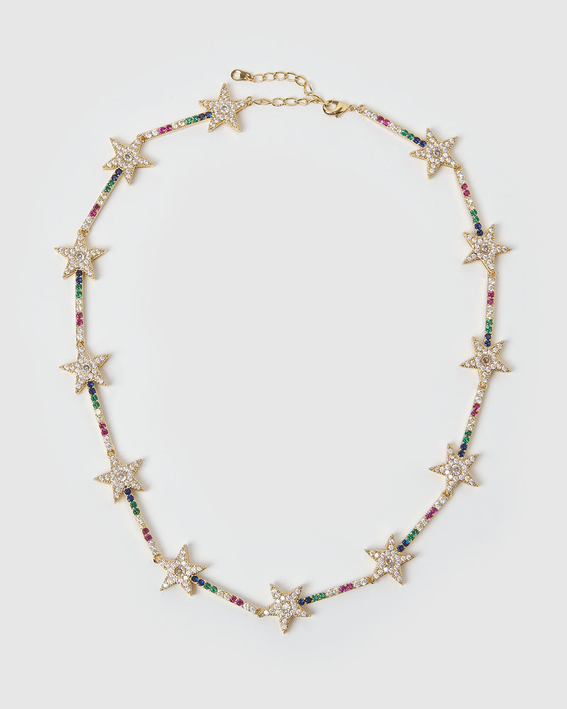 Izoa Star Bright Necklace Gold