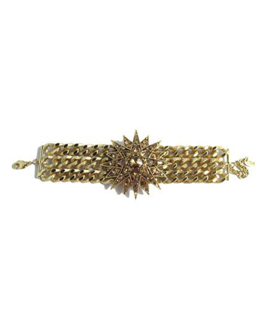 Izoa Star Statement Bracelet Gold