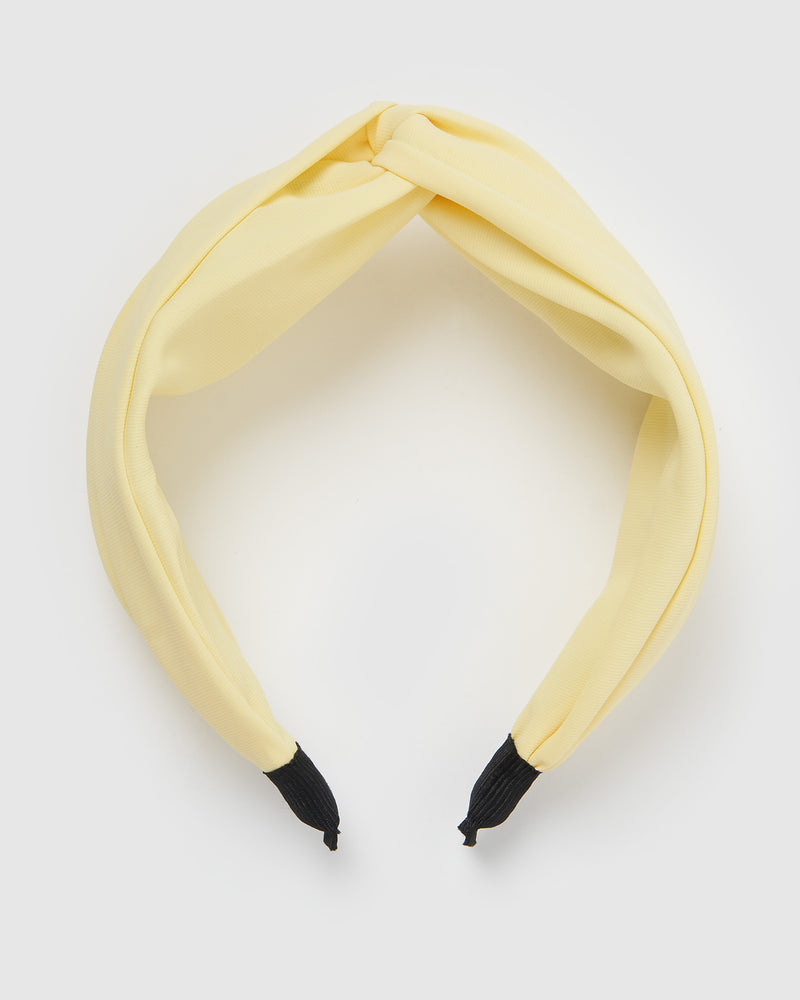 Izoa Taylor Headband Lemon