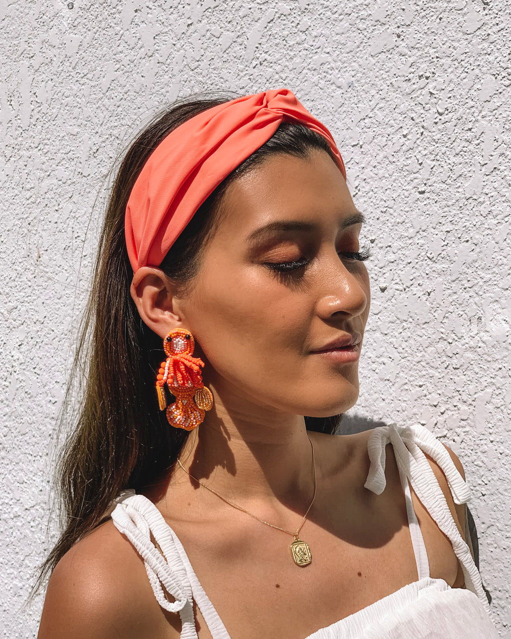 Izoa Under The Sea Earrings Orange